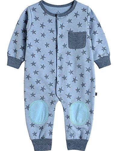 Vaenait Baby Saugling Baby Kurzarm Strampler Spielanzug Cute Star Blue S