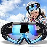TBoonor Skibrille für Kinder Snowboardbrille für Wintersportarten ski Goggles UV400-Schutz