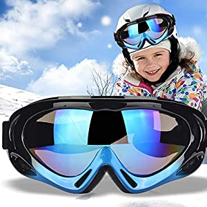TBoonor Skibrille für Kinder Snowboardbrille für Wintersportarten ski Goggles UV400-Schutz & Windwiderstand Snowboard Brille zum Skifahren und Bergsteigen