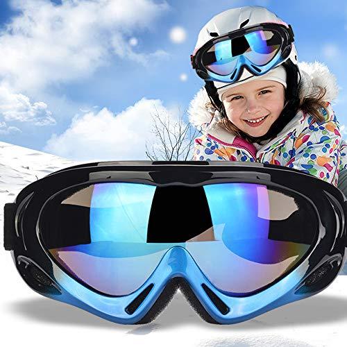 TBoonor Skibrille für Kinder Snowboardbrille für Wintersportarten ski Goggles UV400-Schutz & Windwiderstand Snowboard Brille zum Skifahren und Bergsteigen (Dunkelblau)