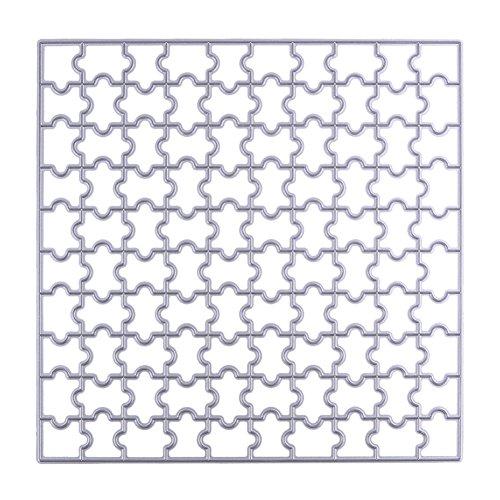 Starnearby Puzzle Troqueles de corte 150 mm cuadrado DIY Scrapbooking Sello/álbum de fotos