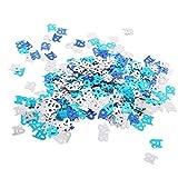 D DOLITY Glitzer Konfetii Tischkonfetti Streudeko Streuartikel für Jede Anlässe, aus Mettalic - Blau+Silber 18 - 3