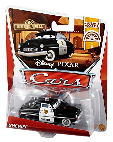 Disney Pixar Cars Sheriff (Wheel Well Motel Series) - Voiture Miniature Echelle 1:55