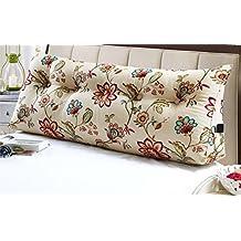 Schienale Del Comodino Cuscino in cotone Canvas Triangolo stampa Cuscino Doppia Coppia comodino grande cuscino cuscino Student Marsupio ( dimensioni : 100*20*50cm )