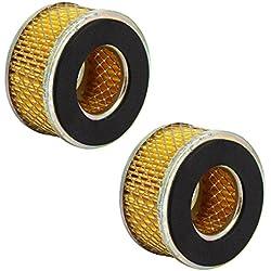 Aexit Élément de compresseur d'air de type à piston de 74mmx35mmx40mm, filtre 2pcs AL233195J204862H