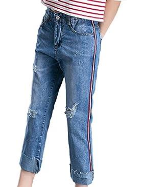 Icegrey Donne Strappati Jeans Stile Fidanzato Buco Pantaloni Larghi Denim  Baggy Taglia Grossa Jeans 3fdbb8bbdad9