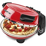 G3Ferrari G10032 All in One Express Pizza Oven Plus with Dual Refractory Cooking Stones 1200w in Red