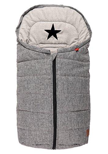 kaiser-65337225-anna-chanceliere-pour-siege-de-bebe-coton-fleece-star-applikation-melange-gris
