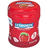 6 boites de 70 stimorol strawberry