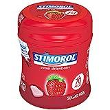 6 boites de 70 stimorol strawberry