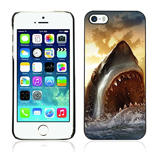 Graphic4You Hai Tier Design Harte Hülle Case Tasche Schutzhülle für Apple iPhone 5 und 5S Design #7