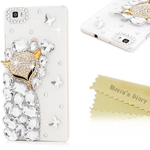 maviss-diary-hulle-fur-huawei-p8-lite-case-pc-hard-glanz-strass-3d-muster-gold-fuchs-transparent-sch