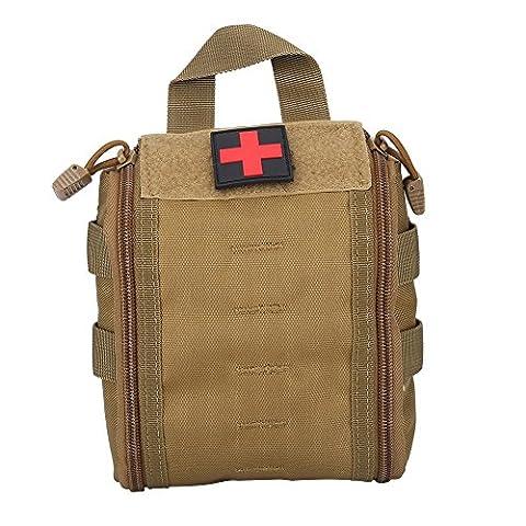 Tragbar Taktisch Medizin Erste Hilfe Tasche Notfall Emergency Survival Tragetasche für Outdoor Sport Reise ( Farbe : Khaki )