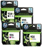 HP 934 XL / HP 935 Original-Tintenpatronen, Schwarz und Farbe, 4er-Pack