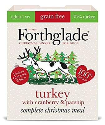 Forthglade Turkey/Cranberry and Parsnip Complete Meal Adult Dog Food, 7 x 395 g