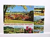 AK Nesselwang im Allgäu Mehrbildkarte, Attlesee, Schwimmbad, Alpspitze mit Bahn, Gelaufen.