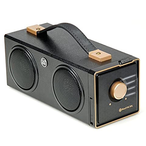 Haut-Parleurs Double Stéréo Bluetooth Sans Fil , Design Rétro Boombox - Pour Smartphone , Tablette , MP3 : Apple iPhone , iPad , iPod / Samsung Galaxy et bien