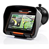 BW® all Terrain 10,9 cm Motorcycle GPS Navigation System 'Rage' – Impermeabile, 4 GB di Memoria Interna, Bluetooth