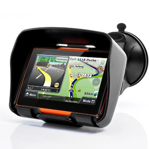 BW® all Terrain 10,9 cm Motorcycle GPS Navigation System 'Rage' - Impermeabile, 4 GB di Memoria Interna, Bluetooth