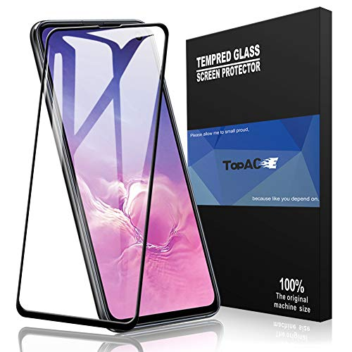 Topace Tempered Glass Samsung Galaxy S10e, protector de pantalla HD-Clear 9H Anti-Oil Resistance Scratch Resistant Pantalla protectora para Samsung Galaxy S10e (Negro)