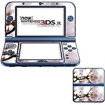 Flores 10005, Flor Blanca, Pegatina de piel cubierta de vinilo con laminado efecto de cuero y diseño colorido para New Nintendo 3DS XL Sticker