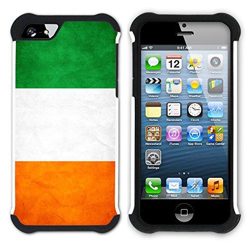 Graphic4You Vintage Uralt Flagge Von Senegal Senegalesisch Design Hart + Weiche Kratzfeste Hülle Case Schale Tasche Schutzhülle für Apple iPhone SE / 5 / 5S Elfenbeinküste Ivorisch
