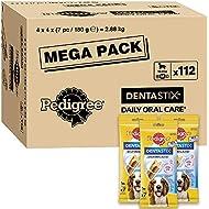 Pedigree Dentastix - Daily Dental Care Chews, Medium Dog Treats from 10-25 kg, 1 box (1 x 2.88 kg/Total of 112 Sticks)