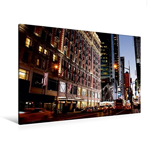 Calvendo Premium Textil-Leinwand 120 cm x 80 cm quer, West 42nd Street   Wandbild, Bild auf Keilrahmen, Fertigbild auf echter Leinwand, Leinwanddruck Orte Orte