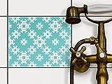 creatisto Badfolie | Dekorations-Sticker Aufkleber Folie PVC Fliesen Küchen-Fliesen Badezimmergestaltung | 25x20 cm Design Motiv Endless Flake - 1 Stück
