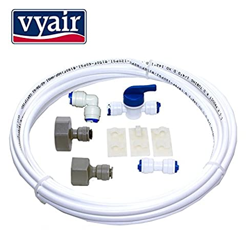 VYAIR DA97-01469D Water Filter Installation and Connection Kit for Samsung American Style Fridge with Integrated Ice and Water Dispenser (Includes 5 Metres of 1/4