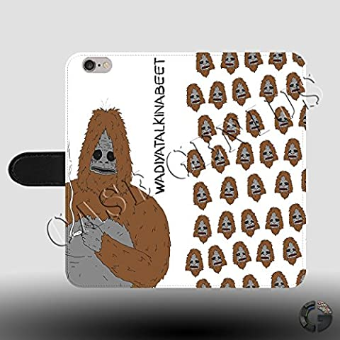 Sassy The Sasquatch Big Lez Show Faux Leather Magnetic Clasp Holder Phone Case Cover for Samsung Galaxy S8 Plus