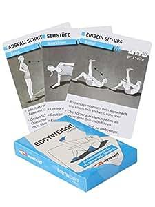 Windhund Bodyweight Trainingskarten classic - Trainingsplaner mit Bodyweight Übungen ohne Geräte, Ganzkörpertraining, Stabi, Workout für zuhause