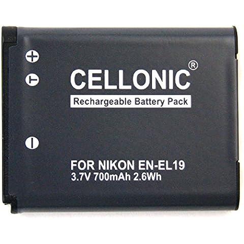 Batería para Nikon Coolpix S32 Coolpix S3500 Coolpix S6500 S3600 (700mAh) EN-EL19