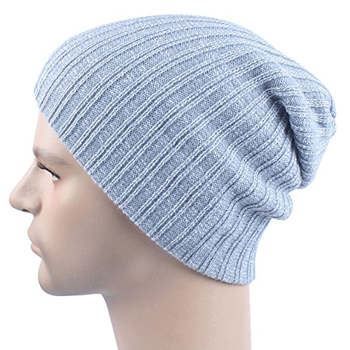 uleade-beanie-hat-knit-hat-winter-skull-wool-hat-windproof-for-men-women-grey