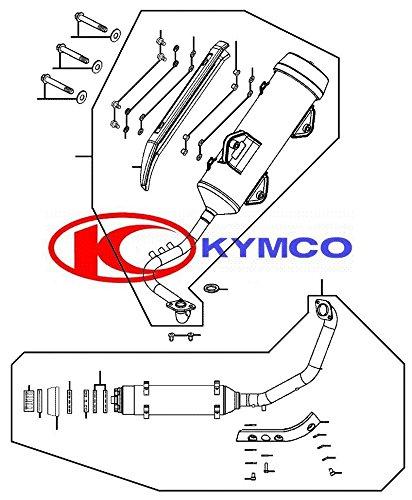 Kymco Auspuff kpl. grau für Yager GT 125