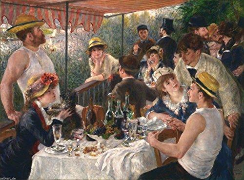 Auguste Renoir Leinwand (Time4art Auguste Renoir Das Frühstück der Ruderer Print Canvas Bild auf Keilrahmen Leinwand verschiedene Größen (120x80cm))