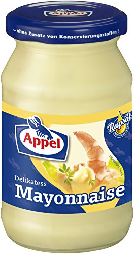 Appel Delikatess Mayonnaise, 12er Pack Gläser, Mayonnaise mit Rapsöl