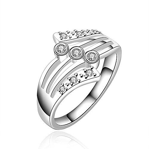 argente-pour-dame-conception-doigt-ring