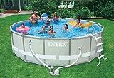 Intex Aufstellpool Frame Pool Set Ultra Rondo, Grau, Ø 488 x 122 cm -