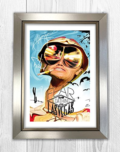 Engravia Digital Fear & Loathing in Las Vegas Reproduction Signed Film Poster Starring Johnny Depp A4 Print (Silver Frame)