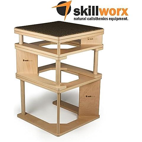 skillworx plyollettes Set–Lucent Edition: 3in 1Plyo Box fino a 90cm,