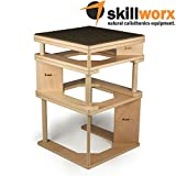 skillworx plyollettes Set - Lucent Edition: 3 in 1 Plyo Box fino a 90 cm, High parallettes e Dip Station in LEGNO
