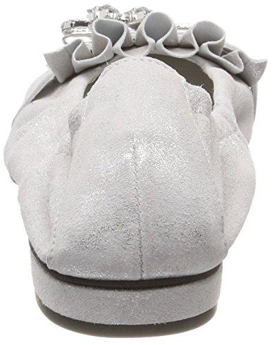Kennel und Schmenger Schuhmanufaktur Malu, Ballerine Punta Chiusa Donna Weiß (White/Crystal)