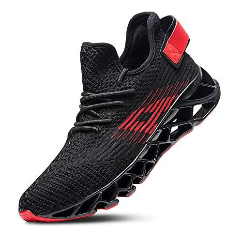 Mabove Laufschuhe Herren Damen Turnschuhe Sportschuhe Straßenlaufschuhe Sneaker Atmungsaktiv Trainer für Running Fitness Gym Outdoor(Schwarz.h/Dh66,43 EU) (Trainer Sneaker Schuhe)