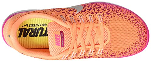 Nike Damen Wmns Free RN Distance Laufschuhe Naranja (Atmc Orng / White-Fr Pnk-Pnk Bls)
