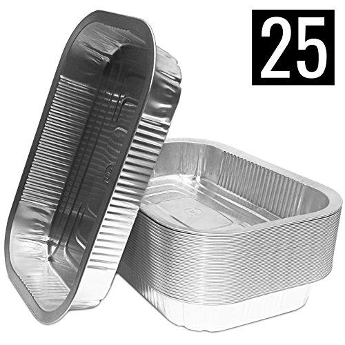 Mamatura 25 Aluschalen | Perfekt Passend für Weber | High Quality Alu-Tropfschalen, Grillschalen, 25 Stück