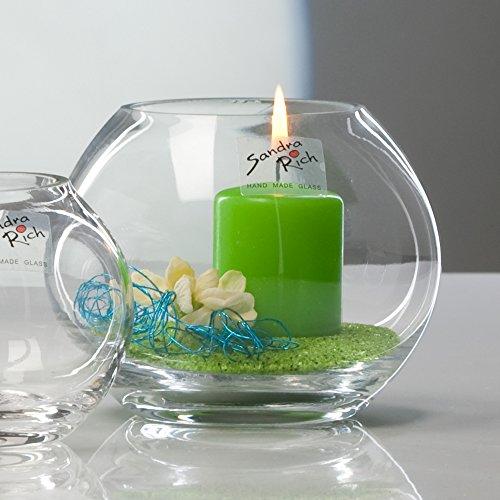 5x Glasvase Kugel Vase Glas Blumenvase Tischvase rund ca. 9 cm