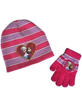 Regina delle Nevi/Frozen–Set berretto e guanti assortiti–5/7anni