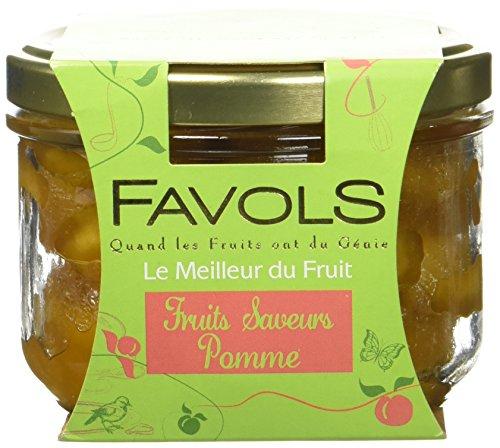 FAVOLS Fruits Saveurs Pommes Quarts de Pommes 200 g - Lot de 2