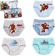 Ropa Interior para niños, patrón de Iron Man, 5 Piezas de Calzoncillos Tipo bóxer para niños pequeños, Ropa In